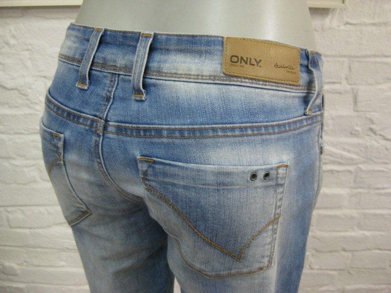 only coole h ft damen jeans hose w28 l34 blau denim m. Black Bedroom Furniture Sets. Home Design Ideas