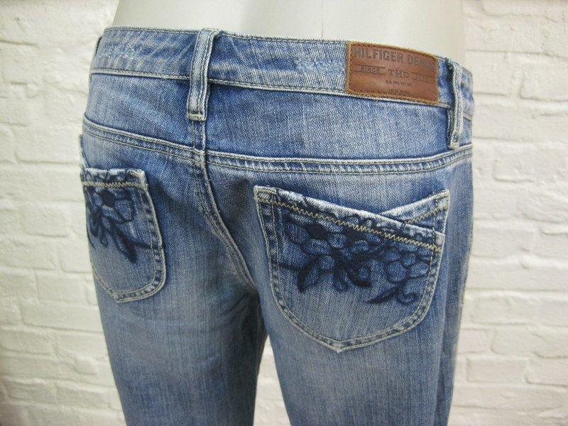tommy hilfiger damen h ft jeans hose 7 m blau denim mit. Black Bedroom Furniture Sets. Home Design Ideas